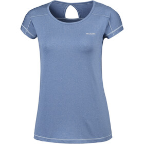 Columbia Peak to Point Camiseta manga corta Mujer, blue dusk